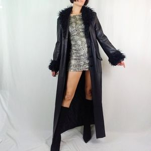 Late 90's Faux leather goth trench